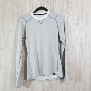 Men Patagonia thermal grey long sleeve shirt s